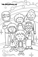 まる子、お姉ちゃん、お父さん、お母さん、おじいちゃん、おばあちゃんサムネイル