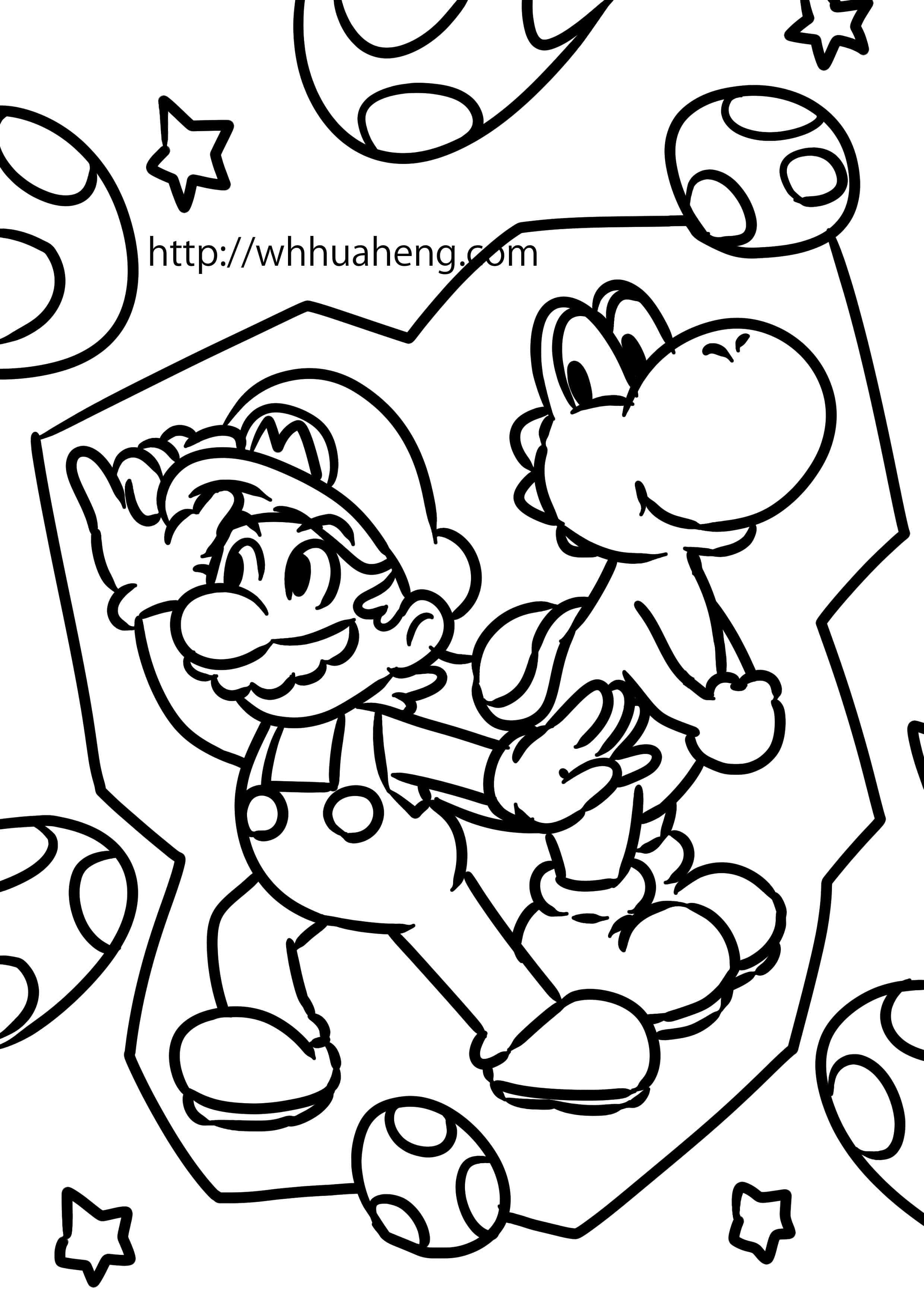 マリオ 塗り絵 pdf